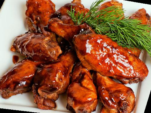 Куриные крылышки с кисло-сладким соусом