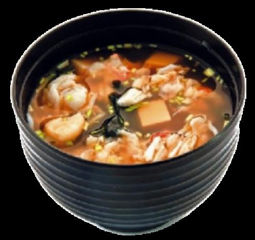 Мисо-суп с креветкой и крабом